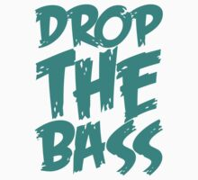 Drop The Bass (Green Cyan) Kids Clothes