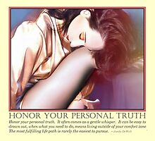 Honor Your Personal Truth by JaedaQuoteology