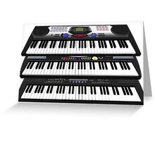 Modern Synthesizers / Keyboards Greeting Card