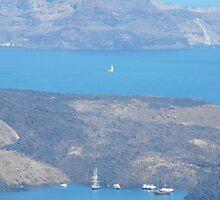 Santorini ocean: Greek Islands Magic by SlavicaB