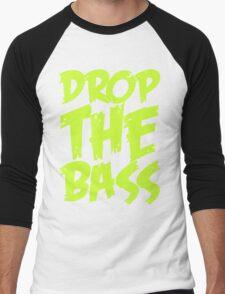 Drop The Bass (Light Neon) Men's Baseball ¾ T-Shirt