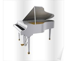 Grand Piano: White Finish Poster
