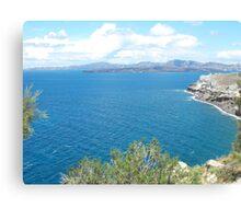 Santorini ocean: Greek Islands heaven Canvas Print