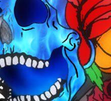 Flowery Skull Sticker