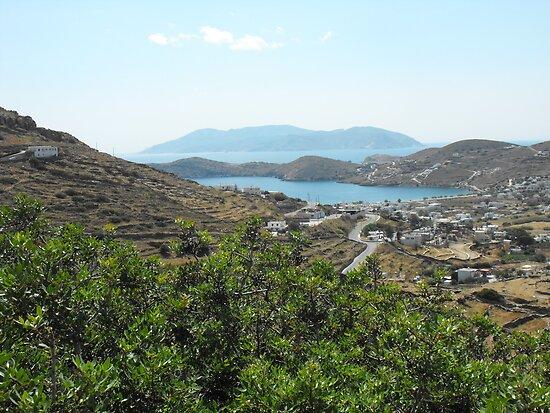 Santorini ocean: Greek Islands villages by SlavicaB