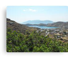 Santorini ocean: Greek Islands villages Canvas Print