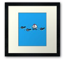 Just a bunch of tadpoles! Framed Print
