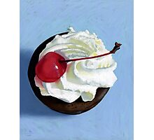 chocolate tart painting Photographic Print