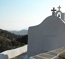Santorini ocean: Greek Islands Church by SlavicaB