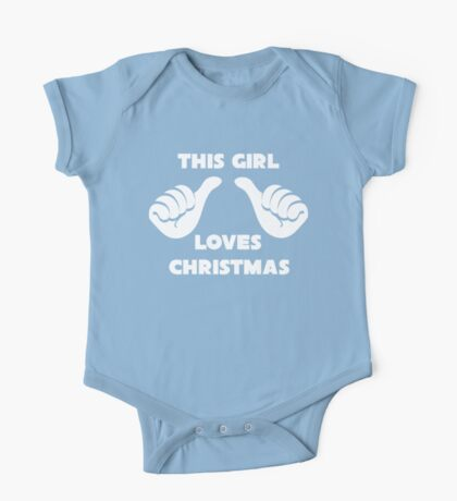 This Girl Loves Christmas Shirt Red One Piece - Short Sleeve