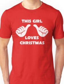 This Girl Loves Christmas Shirt Red Unisex T-Shirt