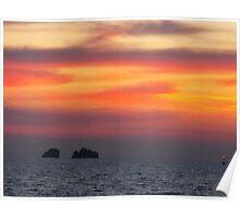 Athens Sunset: Greece Poster