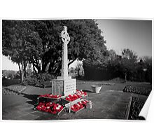 Seaford War Memorial, East Sussex, UK Poster