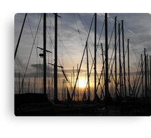 Athens port at sunset: Greece Canvas Print