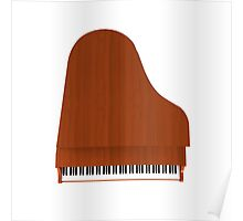 Grand Piano: Wood Finish Poster