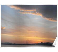 Athens, Greece: Sunset sky Poster