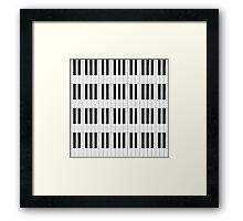 Piano / Keyboard Keys Framed Print