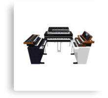 Vintage Synthesizers / Keyboards Canvas Print