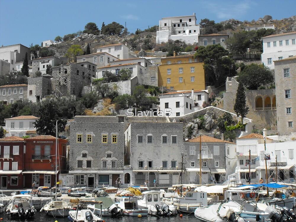 Greece: Hydra port by SlavicaB