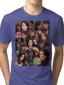 April Ludgate Tile Tri-blend T-Shirt