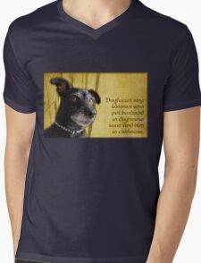 Dogfucius say: Woman who put husband in doghouse... Mens V-Neck T-Shirt