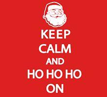 Keep Calm Christmas Shirt Womens Fitted T-Shirt