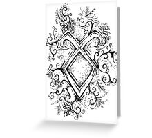 Angelic Rune Mandala Greeting Card