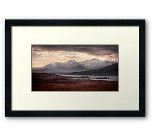 Snowy Mountains of Glen Coe Framed Print