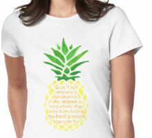 The Best Pineapple Womens Fitted T-Shirt