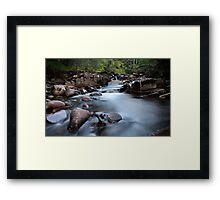 Black wood stream  Framed Print