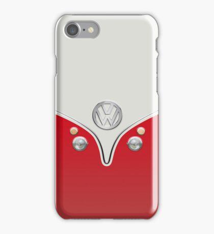 VW Camper Van Red iPhone Case/Skin