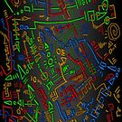 Scribble pattern in primary colours by Confundo