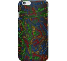 Scribble pattern in primary colours iPhone Case/Skin