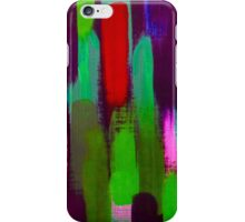 Red Green Abstract Brush Strokes iPhone Case/Skin