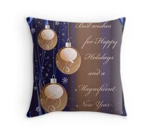 Best Wishes for Happy Holidays Throw Pillow