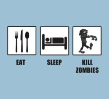 Eat Sleep Kill Zombies T-Shirt