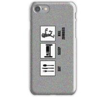 Eat Sleep Kill Zombies iPhone Case/Skin