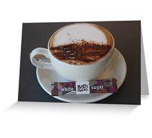 Coffee Mocha New Zealand Style Greeting Card