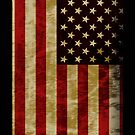 U.S.A Flag in Retro and Grunge effect by Moonlake