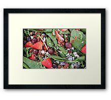 Emerald Salad  Framed Print