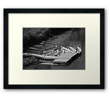 Seven Boats Framed Print