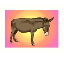 Little Donkey Friend Art Print