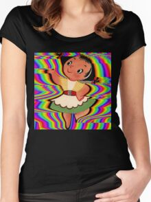 Dancing In Colours Women's Fitted Scoop T-Shirt