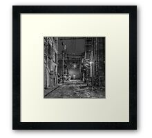 Back Alley Light Framed Print