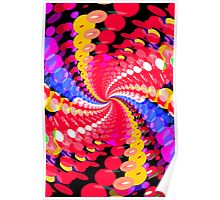 Abstract / Psychedelic Spiral Pattern Poster