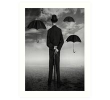 Magritte Style Art Print