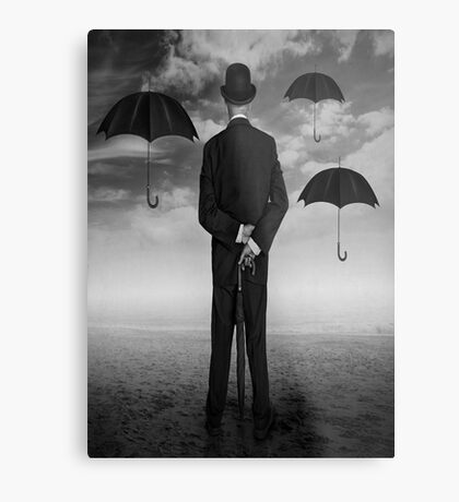 Magritte Style Metal Print