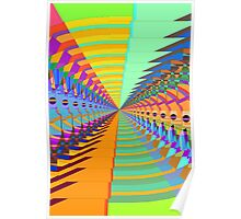Abstract / Psychedelic Tunnel of Colorful Shapes Poster