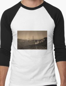 San Francisco - Golden Gate Bridge Men's Baseball ¾ T-Shirt