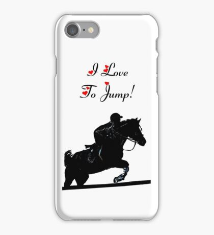 I Love To Jump! Horse iPod & iPhone Cases iPhone Case/Skin